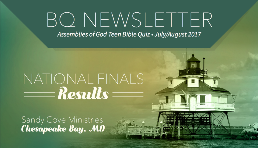 Bible Quiz Newsletter – July-August 2017